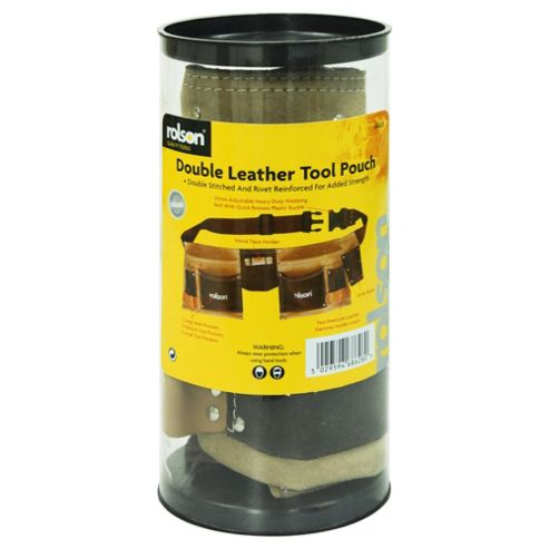 Rolson Double Leather Tool Pouch