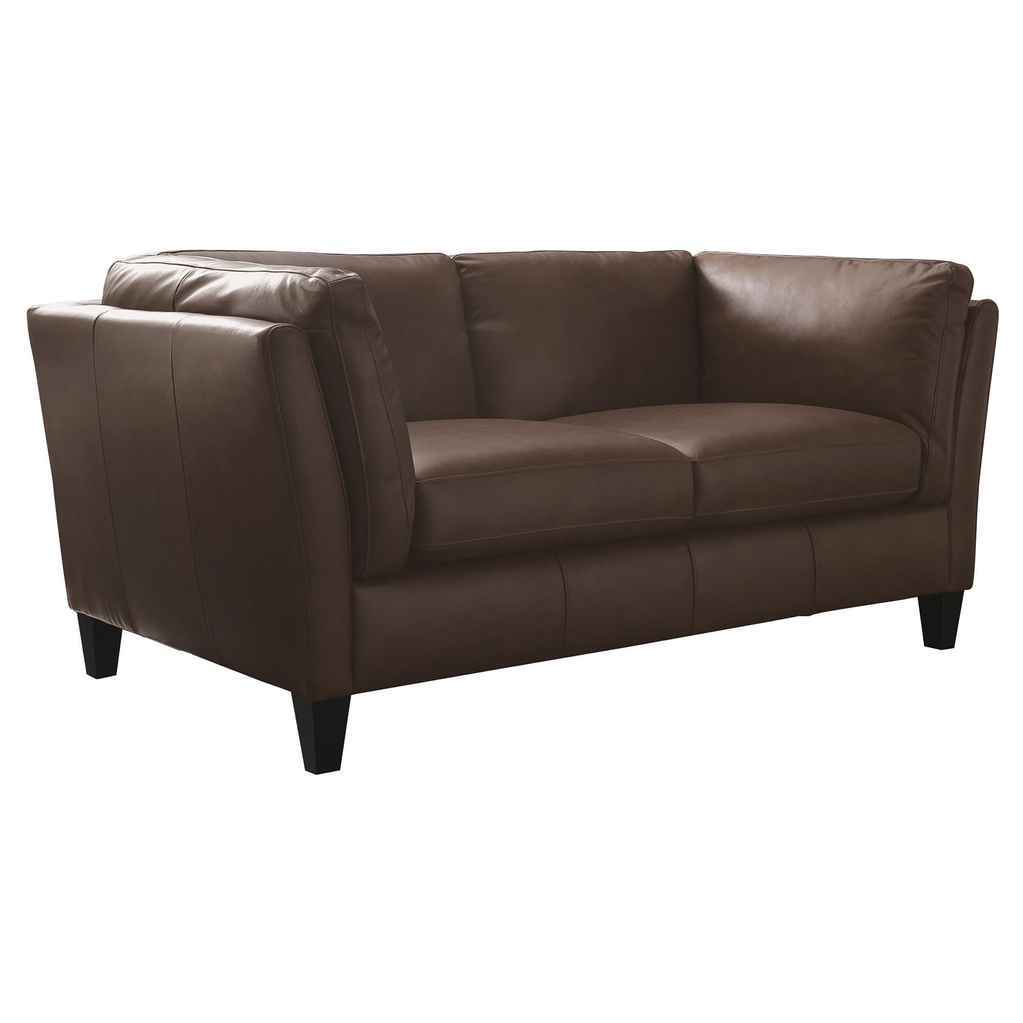 Santos Leather Small Sofa Cognac at Tesco Direct