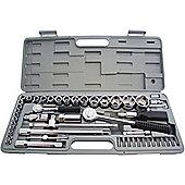 Am-Tech 0.25/ 0.5-inch CV Socket Set (52 Pieces)