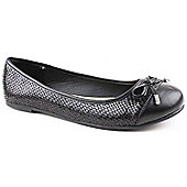 Emilio Luca X Ladies Wide Fit Lora Black Ballerina Shoes