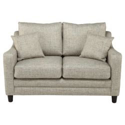 Buckingham Fabric Small Sofa in Biscuit