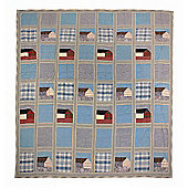 Woven Magic Denim-Tea Dyed Crib Throw - Blue