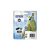 Epson Polar Bear 26 Photo Black Claria Premium Ink Cartridge (RF) for Expression Premium XP-600/XP-605/XP-700/XP-800 All-in-One Inkjet Printers