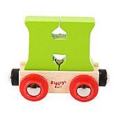 Bigjigs Rail Rail Name Letter H (Green)