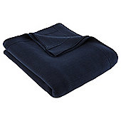 Scale Knit Throw Navy