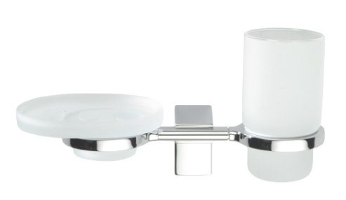 Sonia Eletech Tumbler and Soap Dish Holder in Chrome