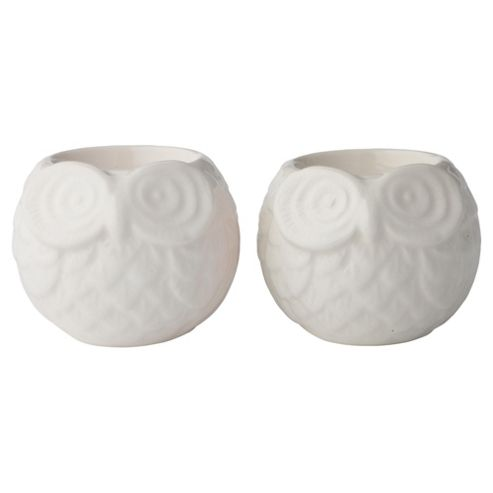 F&F Home Ceramic owls 2pk