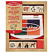 Wooden Baby Zoo Animal Stamp Set - Melissa & Doug