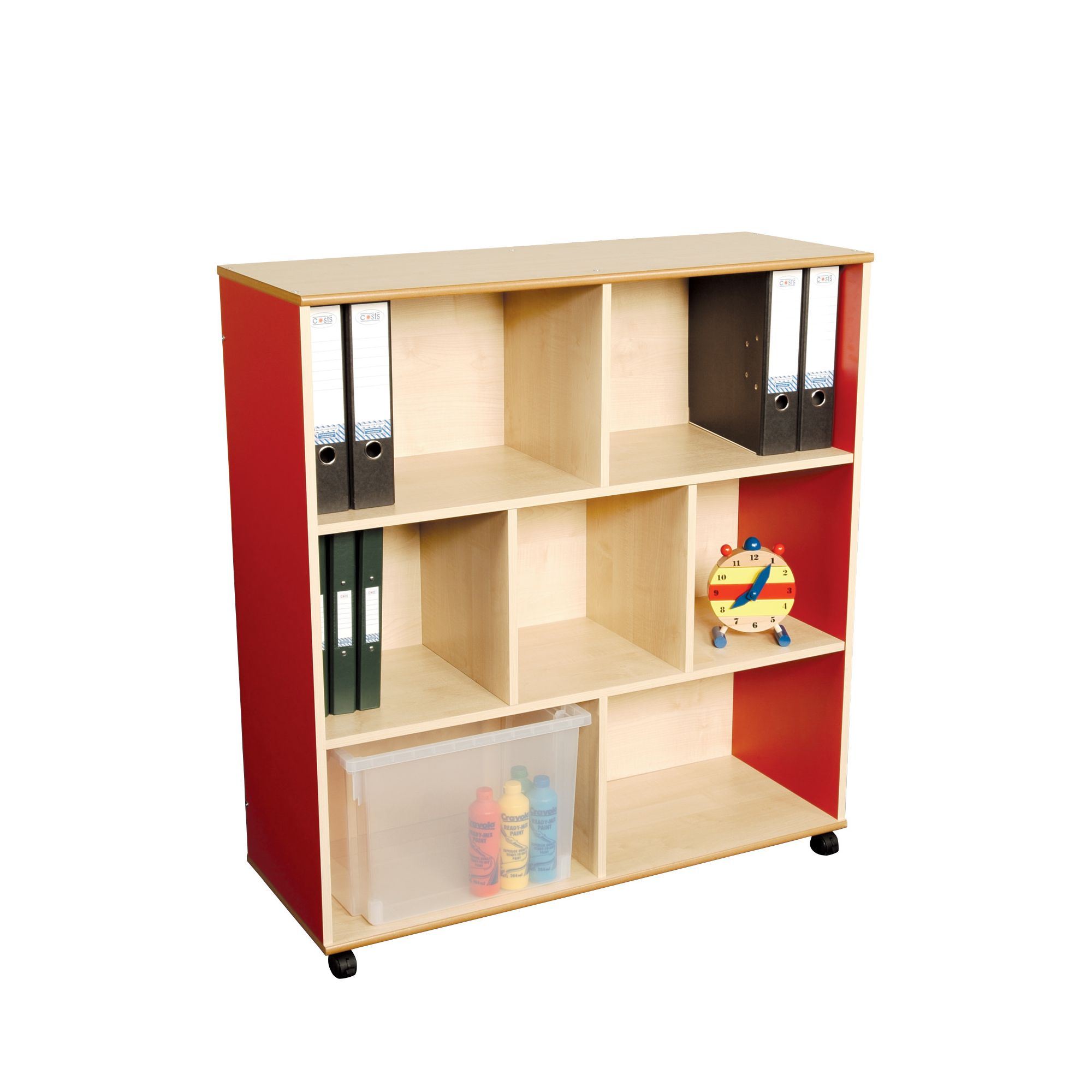 Liberty House Toys Primary Coloured Large Mix and Match Straight Unit at Tesco Direct