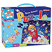Kids Create Space Animals Puzzle