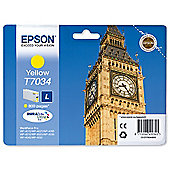 Epson T7034 Standard Ink Cartridge For Epson WorkForce Pro 4000 Series - Yellow