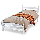 MetalBedsLtd Moderna Bed Frame - Single (3') - White