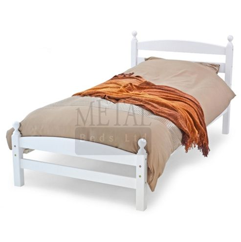 MetalBedsLtd Moderna Bed Frame - Single (3') - White
