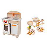 Hape Gourmet Bundle Kitchen White & Kitchen Starter Set 2 Items