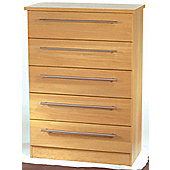 Welcome Furniture Sherwood 5 Drawer Chest - English Oak