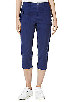 F&F Cropped Trousers - Navy