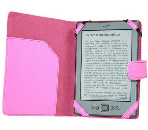 iTALKonline PadWear Pink Executive Wallet Case - Amazon Kindle 4 (2011 Model)