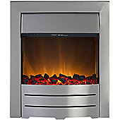 Adam Colorado Brushed Steel Electric Inset Fire