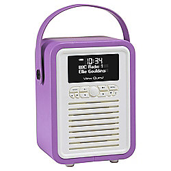 View Quest Retro Mini DAB+/FM Radio with Bluetooth (Orchid)