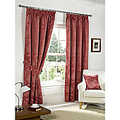Dreams n Drapes Fairmont Rose 66x72 Blackout Pencil Pleat Curtains