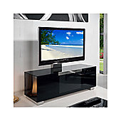 Triskom Stainless Steel / Glass TV Stand for LCD / Plasmas - Black