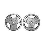 Body Power Standard TRI GRIP Discs 10Kg (x2)