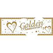 Loving Hearts Golden Anniversary Giant Banner (each)