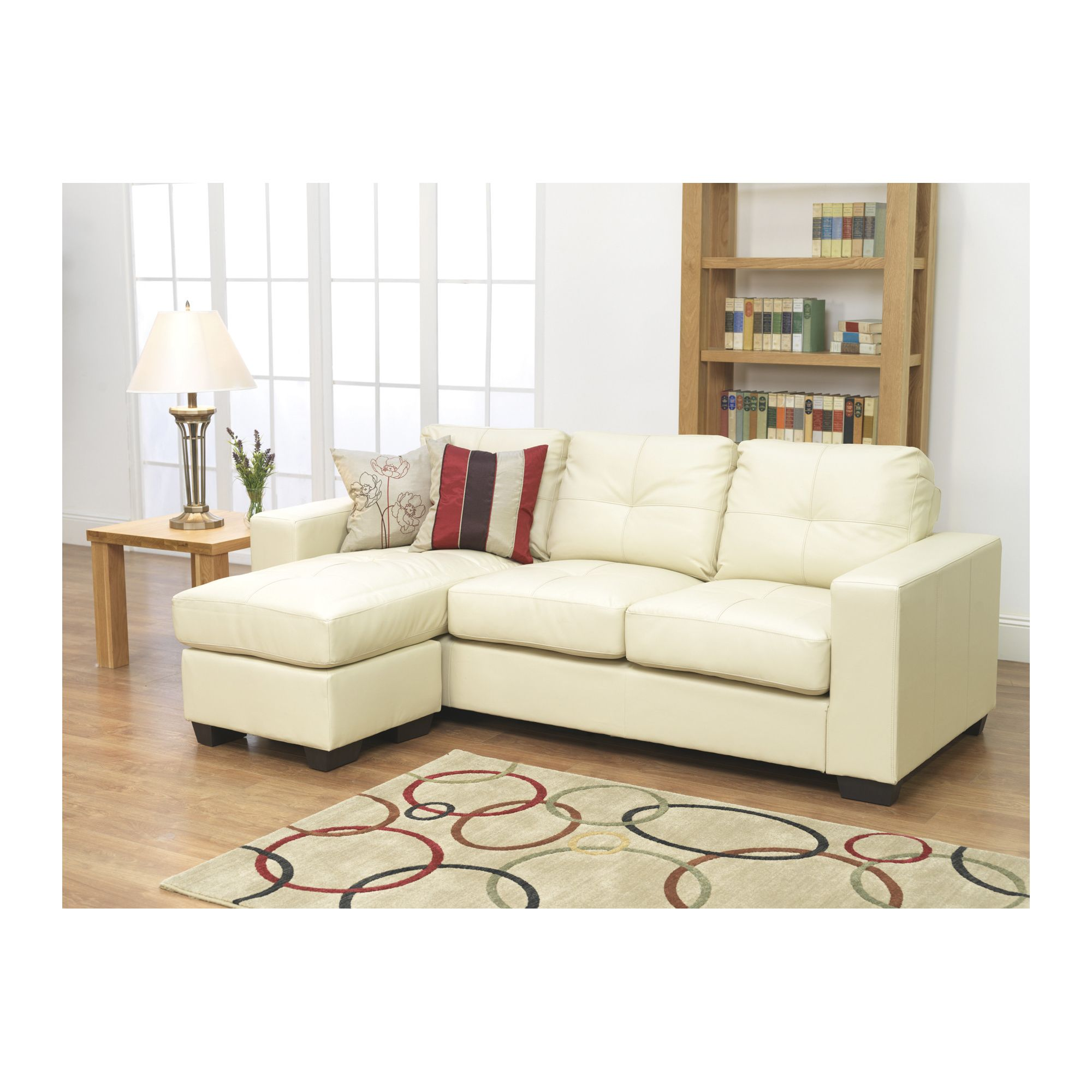 Furniture Link Gemona L Sofa in Ivory at Tesco Direct