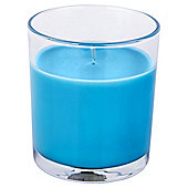Tesco Filled Jar Candle Blue Exotic Crush
