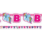 My Little Pony Happy Birthday Letter Banner