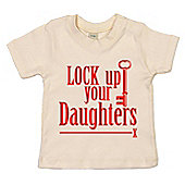 Dirty Fingers Lock up your Daughters Baby T-shirt - Cream