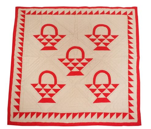 Woven Magic Country Basket-Red Tea Dyed Crib Throw