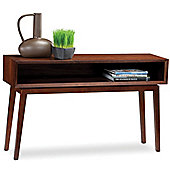 BDI Retro Console Table in Chocolate Walnut