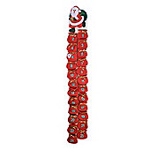 Extra Long Father Christmas Advent Calendar with 24 Numbered Santa Sack Pockets - Red