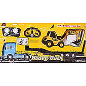 Electric RC Transporter Lorry with Excavator