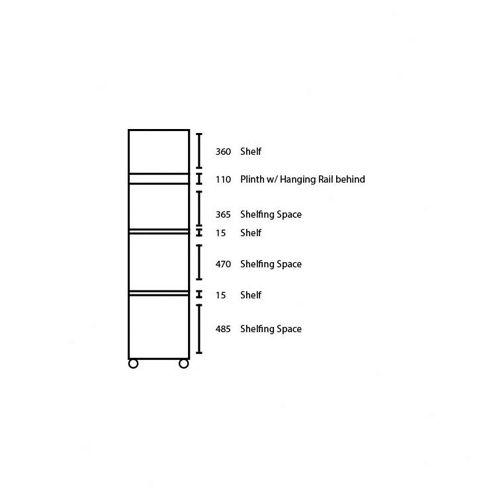 Ideal Furniture Bobby Half Robe Wardrobe - Beech