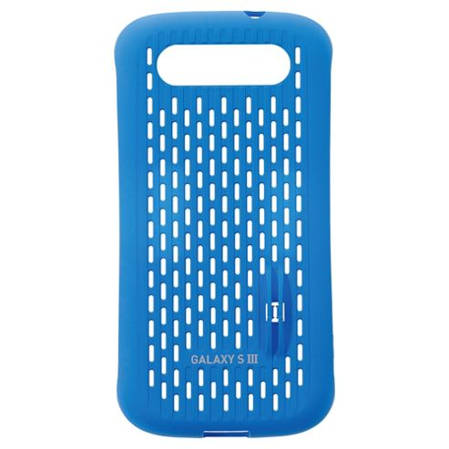 Samsung Metal Look Cool Vent Case Galaxy SIII Blue