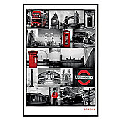 London Gloss Black Framed The Iconic Images of London Poster