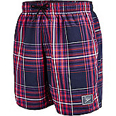 Speedo Mens Yarn Dye Check Shorts - Red