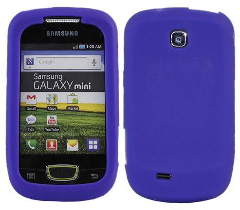 iTALKonline 18009 SoftSkin Silicone Case - Samsung S5570 Galaxy Mini (Blue)