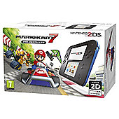 2DS HW Black + Blue + Mario Kart 7
