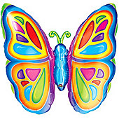 "25"" Bright Butterfly Foil Balloon (each)"