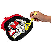 Minnie Mouse Colour-in Glitter Bag