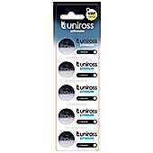 UNIROSS CR2016 Lithium Coin Cell Battery 5-Pack U0223218