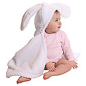Clair de Lune Honeycomb Bunny Ears Blanket, White