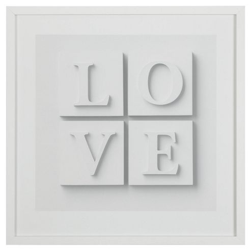 Love 3D Wall Art White