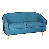 Harmony Furnishings Turin Fabric Sofa - Teal