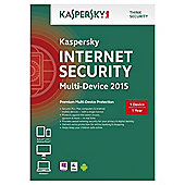 Kaspersky Internet Security 2015, Multi Device, 1 Device, 1 Year, CD