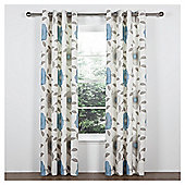 Tesco Sophia Lined Eyelet Curtains - Teal