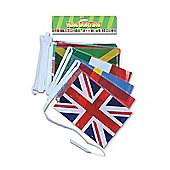 Multi Nation Bunting, World Flags, Olympics Supporter Party 7 m. 25 Flags.